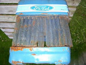 Vintage Ford 1210 3 Cyl Diesel Tractor hood Grille Assembly