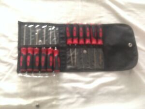 Snap On 12pc Red Soft Grip Mini Pick torx screwdriver Set With Pouch Sgmini12ar