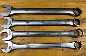 Vintage S K Tools Jumbo Sae Combination Wrenches C 40 C 42 C 44 C 46 Usa