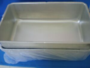 2 Pk Vollrath Full Size Silver Aluminum Steam Table 6 Deep Spillage Water Pan