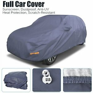 Waterproof Full Suv Car Cover W lock Breathable Sun Uv Rain Dust Resistant Blue