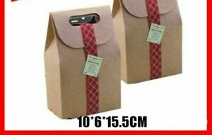 Kraft Paper Cake Box Pastry Packaging With Handle 5 Pcs lot 10 6 15 5cm Supplies