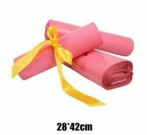 Mailing Bags Pink Mailers Envelopes Plastic Self Seal 28 42cm 100 Pcs lot Supply