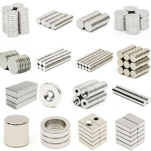 10 100 Round Disc Block Square Cube Magnets Rare Earth Neodymium N52 N50 N48