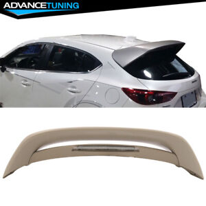 14 18 Mazda 3 Mazda3 5dr Hatchback Ms Style Unpaint Abs Trunk Roof Spoiler Wing