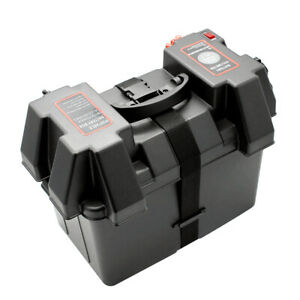 Battery Box Deep Cycle Dual System 12v Usb Large For Marine Boat Trailer Rv J2z1