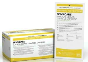 New Case 100 Pairs Medline Sensicare W Aloe Latex free Surgical Gloves Size 7 5