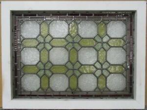 Midsize Old English Leaded Stained Glass Window Victorian 24 75 X 18 5