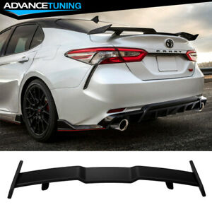 Fits 18 21 Toyota Camry Rear Spoiler Abs Matte Black
