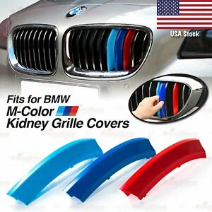 M Power Kidney Grille Tri Color 3 Covers Insert Clips Fits Bmw All Series Here