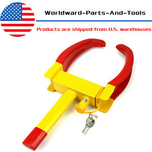 Wheel Lock Clamp Boot Tire Claw Auto Car Rv Truck Boat Trailer Anti Theft Towing