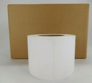 4 X 4 Topcoated Thermal Transfer Adhesive Paper Label Rt 4 4 750 3 4 Rolls
