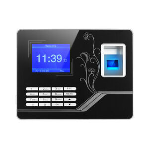 Biometric Fingerprint Password Attendance Machine Tft Recorder Reader Time Clock