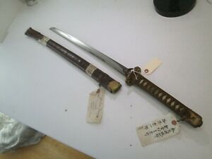 Wwii Japanese Officers Samurai Sword Bizen Signed W Owners Tags Clean Blade C51