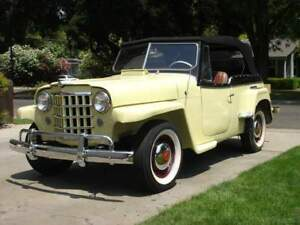 Willys Jeepster 48 51 Convertible Top Window White Haartz Vinyl
