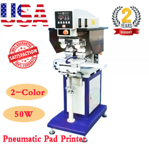 Usa 110v 220v 50w 2 color Pneumatic Pad Printer With Sealed Ink Cup And Shuttle