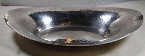 Alvin Sterling Silver Bread Tray Bowl Hammered J58h