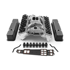 Fit Chevy Sbc 350 Straight Cylinder Head Top End Engine Combo Kit Fits Outlaw
