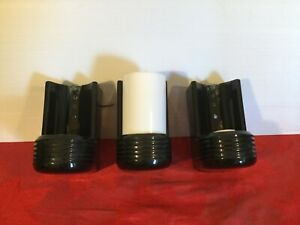 3 Antique Vintage Art Deco Porcelain Electric Wall Sconce Lamp Light Fixtures