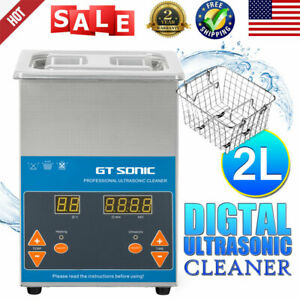 Stainless Steel Ultrasonic Cleaner 2l Automatic Industry Heater W timer basket