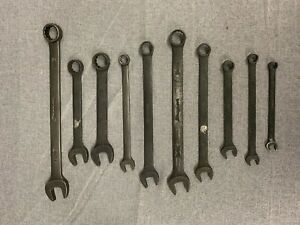 Snap On 10pc Industrial Combination Wrench Set Goex Free Ship Read Description
