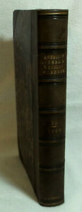 American Journal Of Medical Sciences 1868 1st Edition Leather Bound J A Reagan