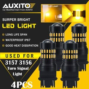 4x Auxito Turn Signal Light Amber 3457a 3157 Led Bulbs For Toyota Corolla Tundra