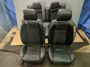 Complete Set Black Leather Seats Driver Bag Blown Ford Mustang Gt 13 14