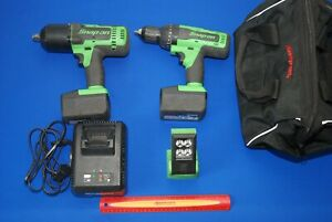 Snap on 18 V 1 2 Dr Impact Wrench Hammer Drill W worklight 2 Battery charger