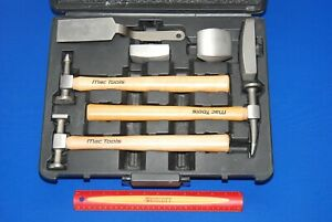 Mac Tools 7 Piece Wooden Handled Hammer Auto Body Repair Set Bts7w