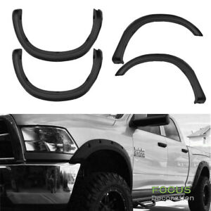 For 2007 2013 Toyota Tundra Pocket Style Abs Black Textured Fender Flares