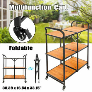 Foldable Shopping Cart Luggage Trolley Trailer With Wheels