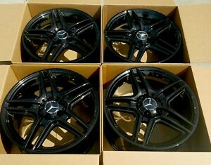 18 Amg Mercedes Benz C350 C300 C Class Black 18 Amg Oem Wheels Rims Factory 18