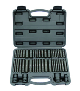 Atd 4646 46 Piece Interchangeable Hex Star Impact Bit Driver Set Sae Metric