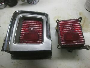 1967 67 Olds Cutlass 442 L Taillight Complete And R Taillight Parts Oem Gc