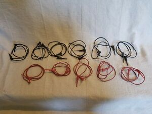 Lot Of 11 Pomona 4613 24 Micrograbber Test Clip Patch Cords 5 Red 6 Black 24