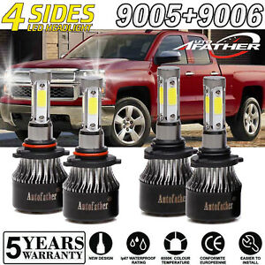 9005 9006 Led Headlight Bulbs 2800w For Chevy Silverado1500 2500 Hd 1999 2007