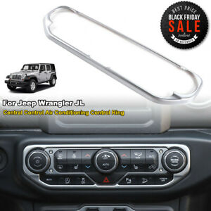 Abs Silver Center Air Condition Switch Panel Trim Fit Jeep Wrangler Jl 2018 2019