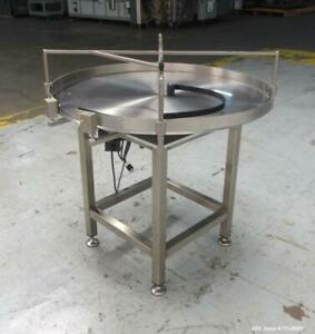 Food Grade Rotary Accumulation Table Unscrambling Tables Diameter 30 Inch Ss304