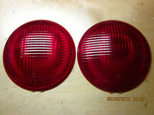 K D Lamp Co 7 Glass Stop Light Lenses Circa 40 S 50 S