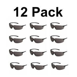 Safety Glasses Polycarb Scratch resistant Lenses Eye Protection Goggles 12 Lot