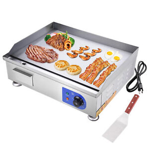 2500w 24 Commercial Electric Countertop Griddle Flat Top Grill Hot Plate Bbq