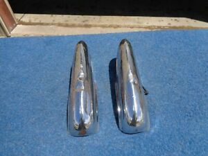 1954 Buick Special Rear Bumper Guards Solid Pair