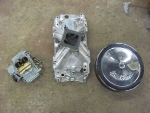 Edelbrock 2695 Aluminum Intake Manifold Holley Street Warrior Carb Chevy 427