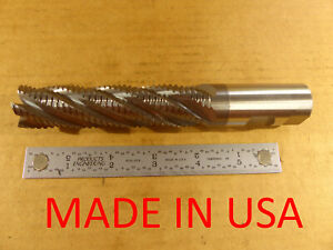 Melin Cobalt Roughing End Mill Ticn 5f 30 Deg 1x1x4x6 1 2 Usa