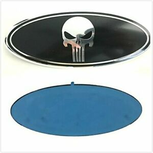 7 Inch Punisher Grille Emblem Tailgate Oval Badge For Ford F 150 F250 F350