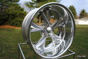 20x15 Foose nitrous 2 Piece Custom Wheels Chevy Gm 5x 4 75 Bp Cast Center