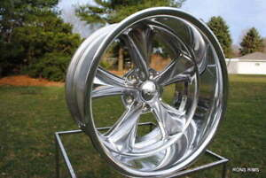 20x15 Foose Nitrous 2 Piece Custom Wheels Ford Chevy Mopar Gm Truck Custom