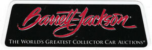 Barrett Jackson Racing Decal 5 5 Long By 2 High Single Body Red White On Black