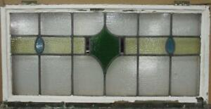 Old English Leaded Stained Glass Window Transom Gorgeous Band Design 34 5 X 17